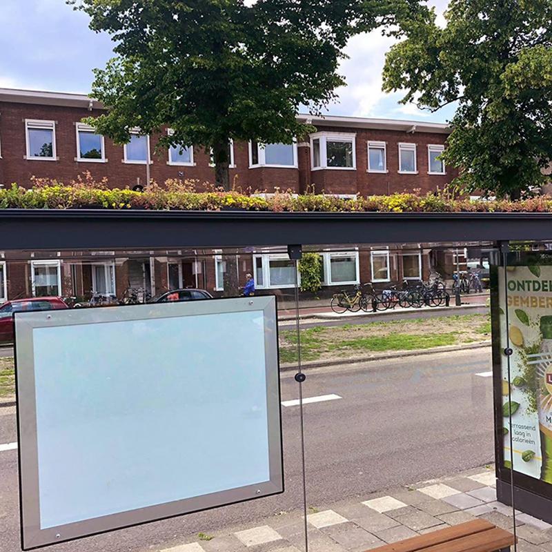 Оазис для пчел на крыше автобусной остановки