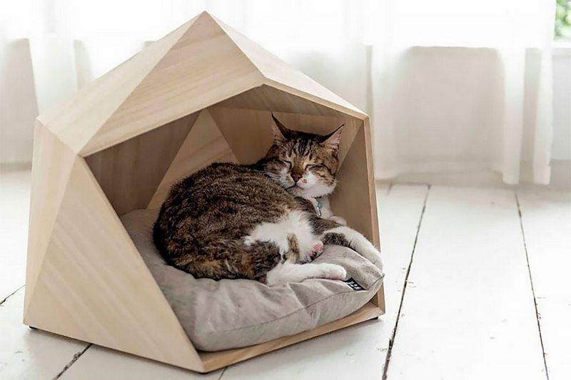 геометрический домик для питомца
