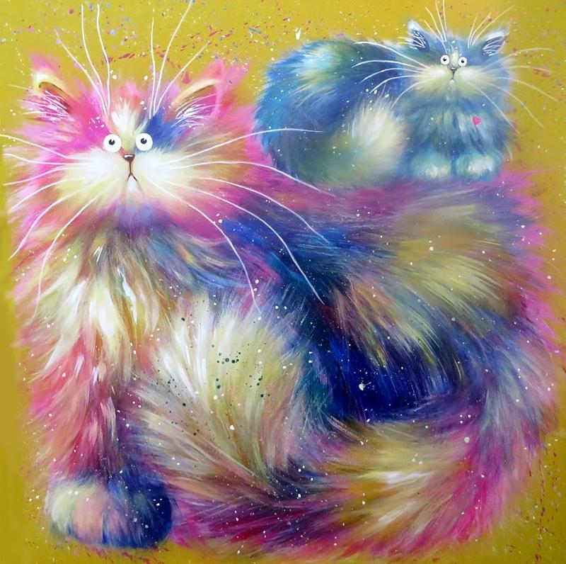 Позитивные коты художницы Ким Хаскинс