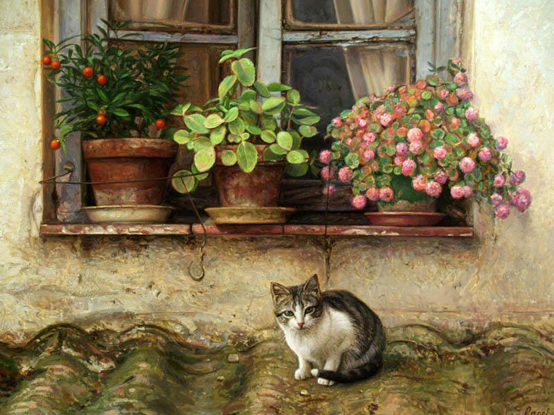 кошки испанского художника Антонио Гусмана Капеля