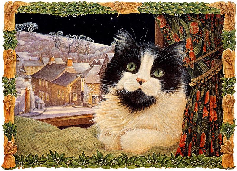 Кошки британской художницы Лесли Энн Ивори