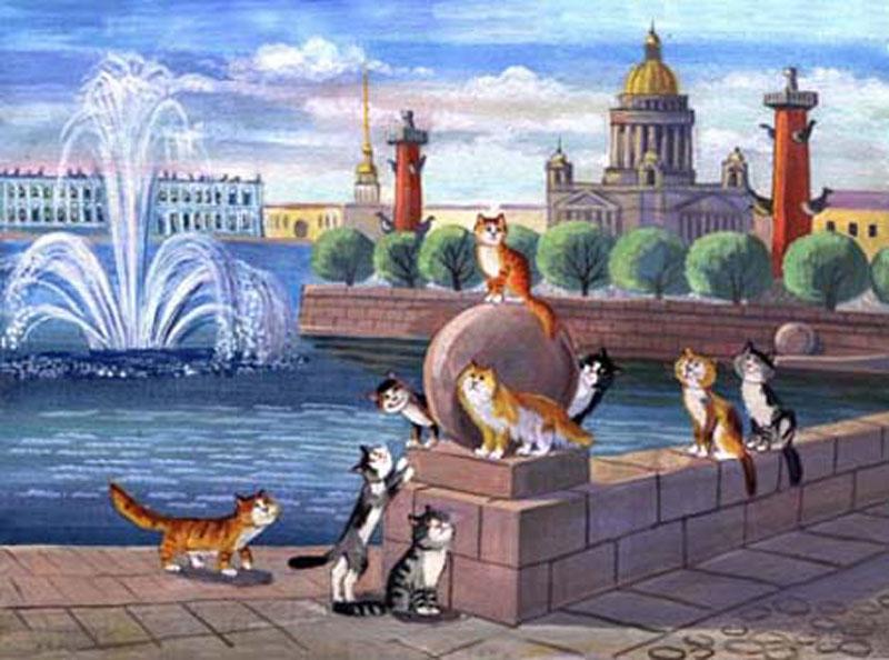 коты художницы Татьяны Родионовой