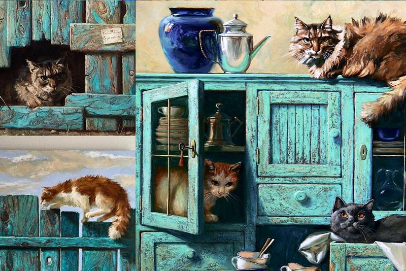 Солнечный мир кошек российской художницы Марии Павловой