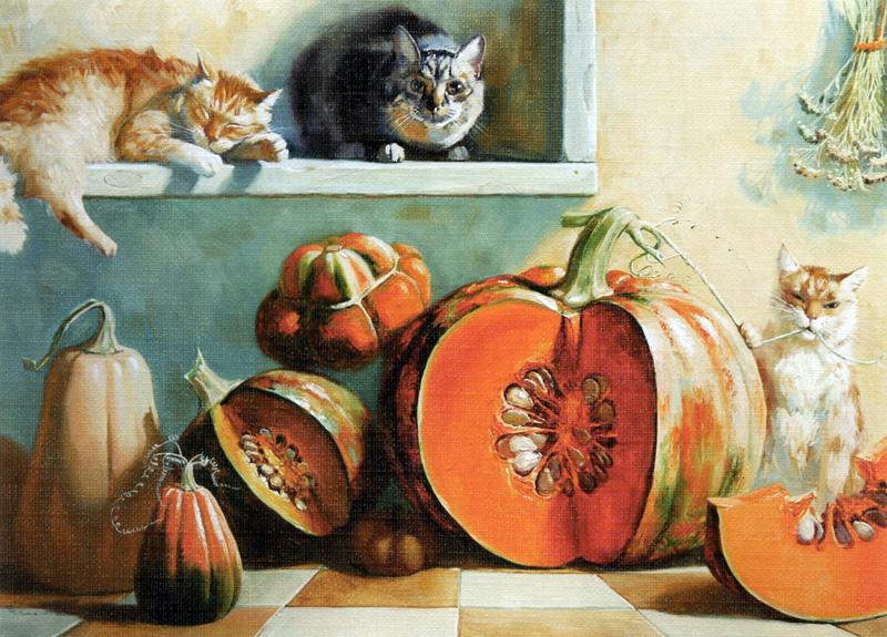 Коты и тыквы
